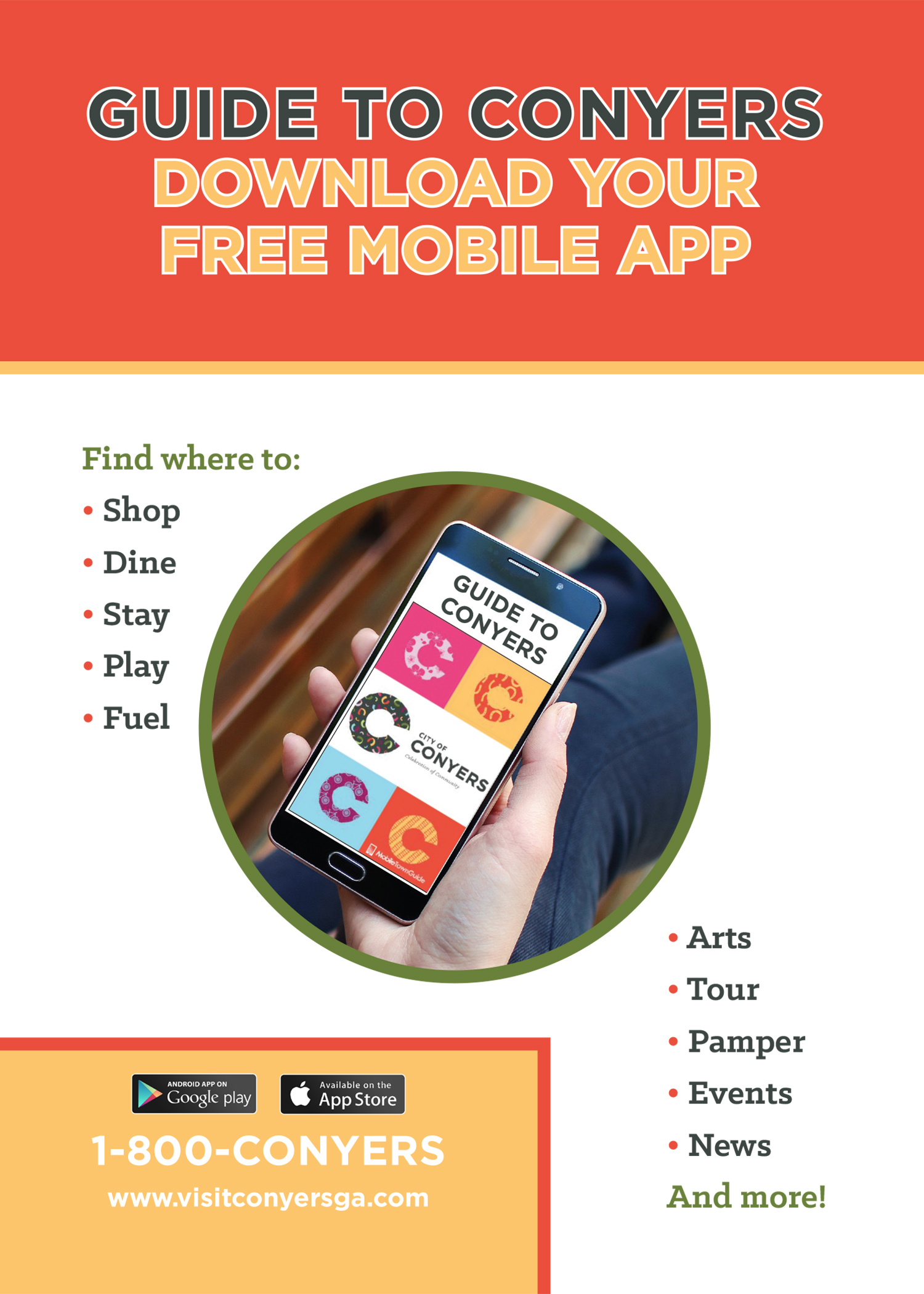 Mobile app sign_Conyers