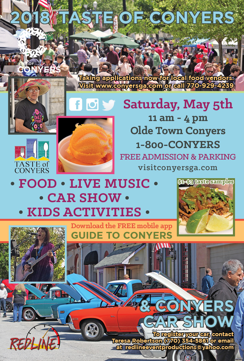 Taste of Conyers: Saturday, May 5