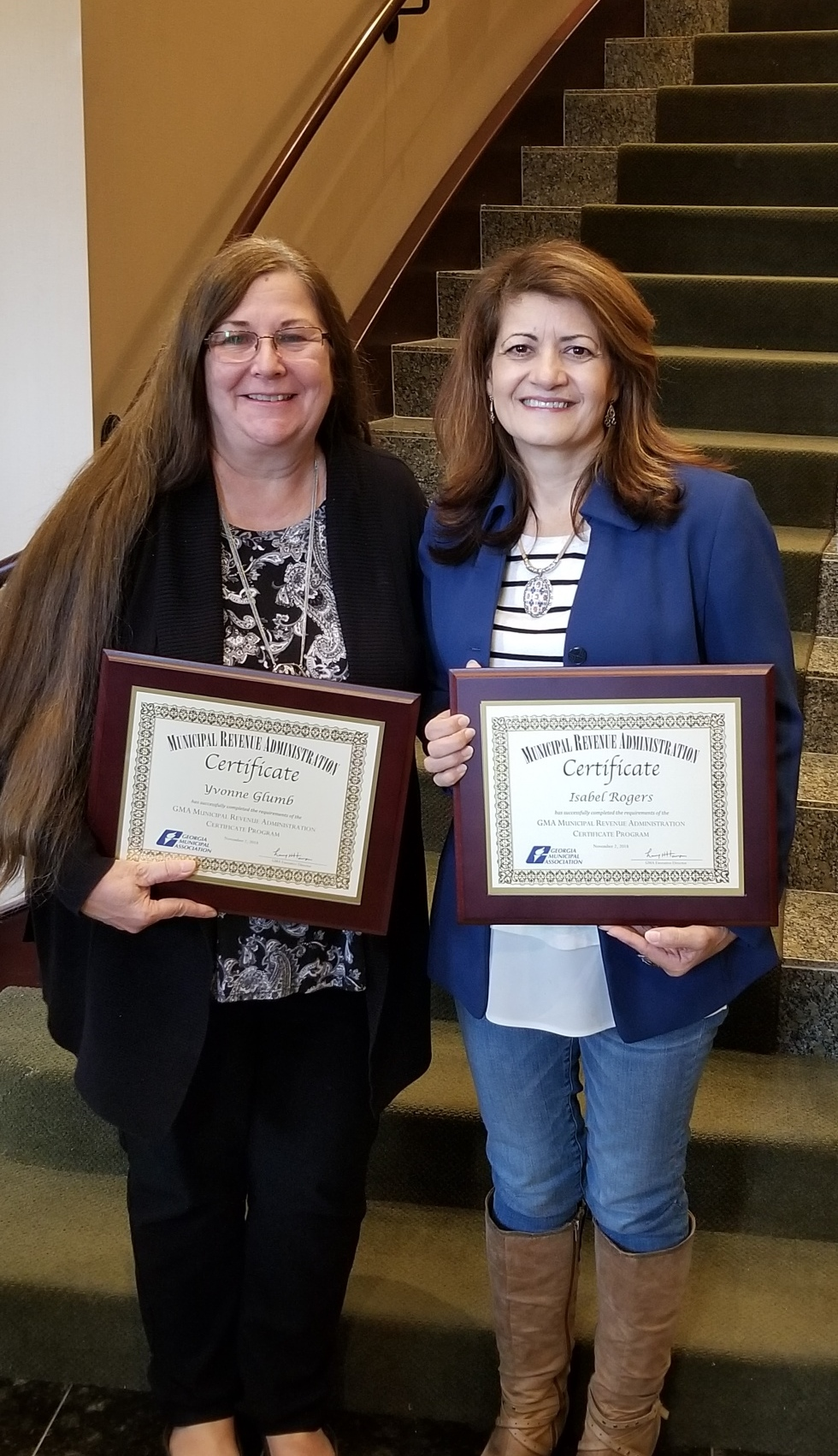 Conyers Finance Employees Receive Municipal Revenue Administration Certificates