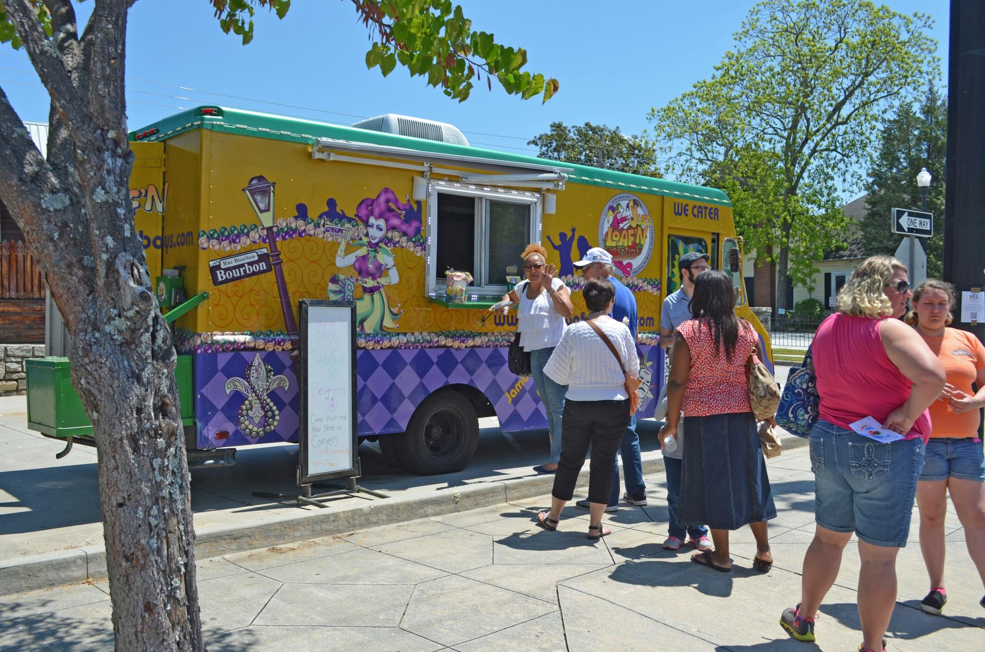 Taste of Conyers 2015 food truck line