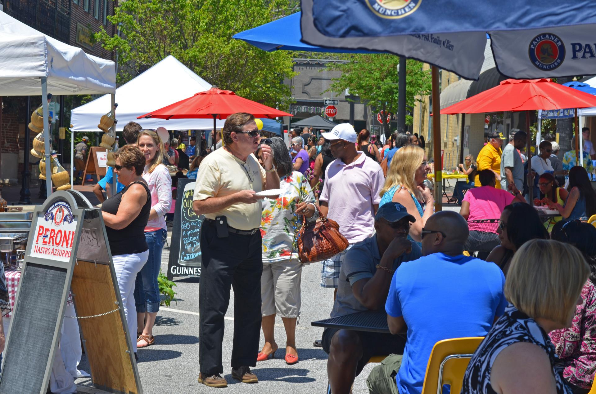 Taste of Conyers Georgia 2015 crowd shot