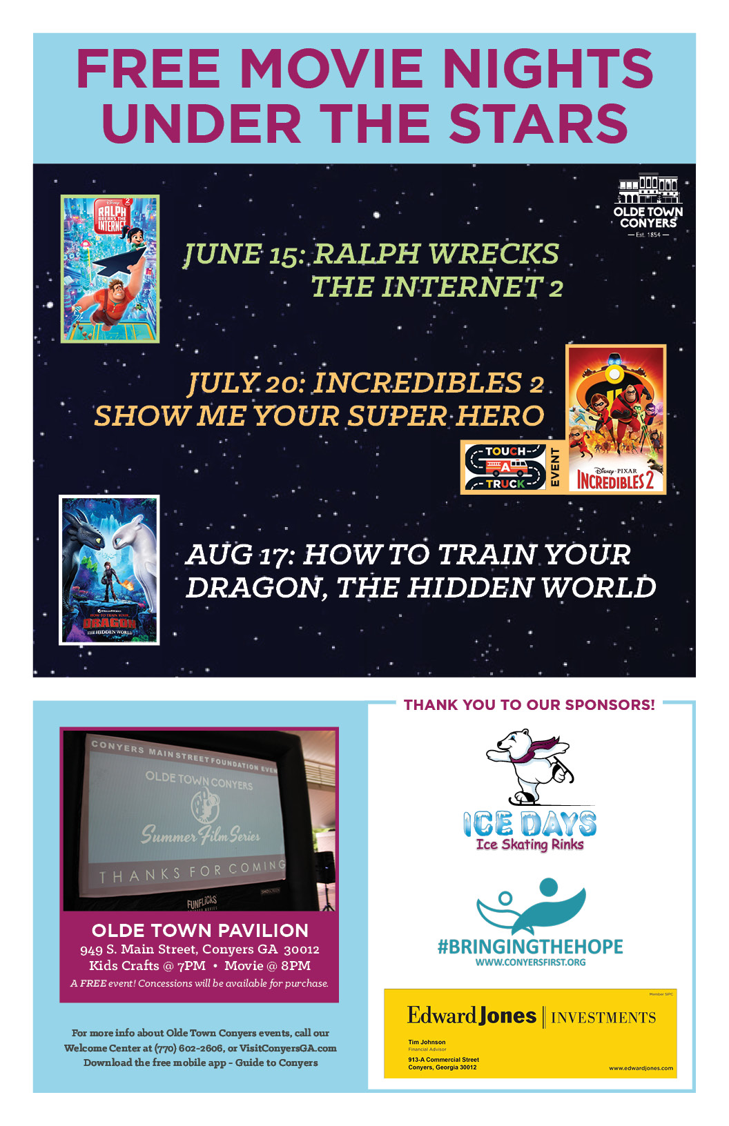 Free Family Fun: Olde Town Summer Film Series