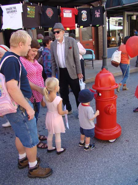 Fire hydrant with kids